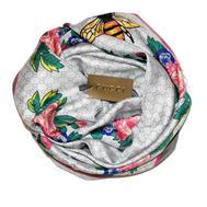 Шелковый женский платок Gucci с пчелкой белый, 6042