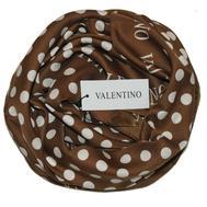 Платок шелковый Valentino коричневый 5005