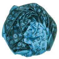Шаль Louis Vuitton голубой с черным 1129