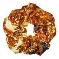 Шелковый платок HERMES сливочный, 5114