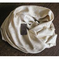 Палантин Louis Vuitton Monogram бежевый с серебром