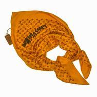 Платок шёлковый Louis Vuitton горчично-желтый, 1141