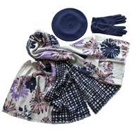 Комплект (берет, палантин, перчатки) Tranini 37001