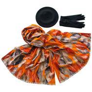 Комплект (берет, палантин, перчатки) Tranini 49012