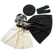 Комплект (берет, палантин, перчатки) Tranini 49009