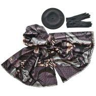 Комплект (берет, палантин, перчатки) Tranini 55006