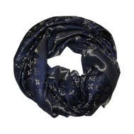Платок Louis Vuitton Monogram синий с золотом 1171