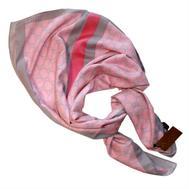 Платок Gucci розовый с серым 6009