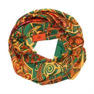 Шелковый платок HERMES зеленый, 5124