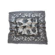 Платок Tranini из хлопка с вискозой серый 0126