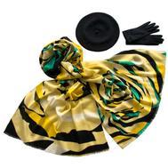 Комплект (берет, палантин, перчатки) Tranini 39009