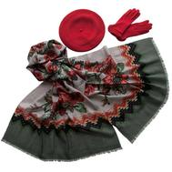 Комплект (берет, палантин, перчатки) Tranini 39038