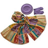 Комплект (берет, палантин, перчатки) Tranini 39044