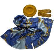 Комплект (берет, палантин, перчатки) Tranini 49005