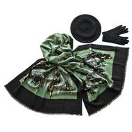 Комплект (берет, палантин, перчатки) Tranini 45016