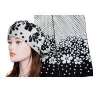 Комплект женский Tranini берет и шарф 0146