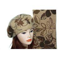 Комплект женский Tranini берет и шарф 0056