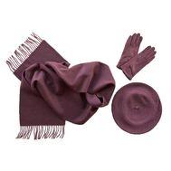 Комплект (берет, шарф, перчатки) марсала 00391
