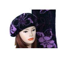 Комплект женский Tranini берет и шарф 0053