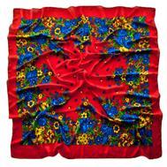 Платок шерстяной Tranini 0401 русский узор красный