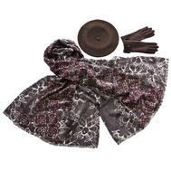 Комплект (берет, палантин, перчатки) Tranini 45025