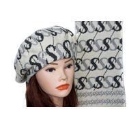 Комплект женский Tranini берет и шарф серый 0065
