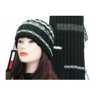 Комплект женский TOMMY JEANS, шапка и шарф,CJ108+SJ107 CHER