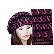 Комплект женский Tranini берет и шарф черный 0062