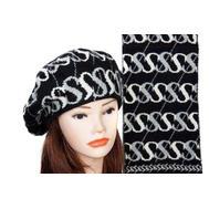 Комплект женский Tranini берет и шарф черный 0061