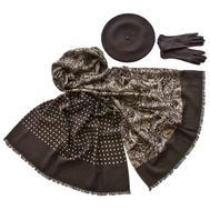 Комплект (берет, палантин, перчатки) Tranini 45078