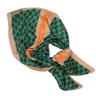 Платок шелковый Gucci зеленый, 6014