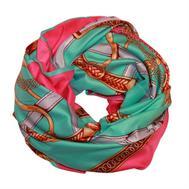 Шелковый платок HERMES 5133 розовый