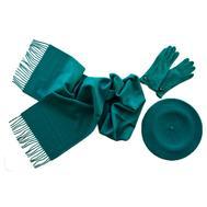 Комплект (берет, шарф, перчатки) 00361 бирюзовый