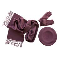 Комплект (берет, шарф, перчатки) 00092 сиреневый