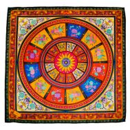 Шелковый платок HERMES красный R0005