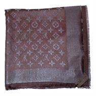 Платок Louis Vuitton шоколад с серебром, 1173