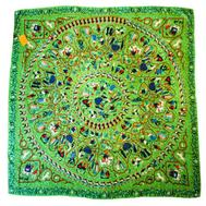 Платок женский ETRO шёлковый зеленого цвета ET0001