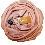 Шелковый женский платок Gucci пудра 6032