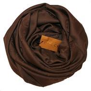 Шелковый женский платок Gucci 6034 коричневый