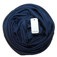 Однотонный шелковый платок Moschino 6035 синий