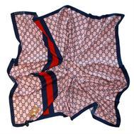 Платок шелковый Gucci розовый с синим, 6010
