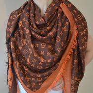 Платок Louis Vuitton оранжевый, 1101