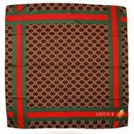 Шелковый платок Gucci 6029 коричневый