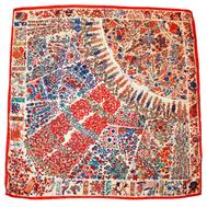 Шелковый платок HERMES белый, 5143
