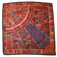 Шелковый платок HERMES красный, 5145