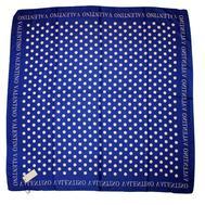 Платок шелковый Valentino, синий в белый горох 5008