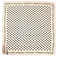 Платок шелковый Valentino молочный в горох 5013