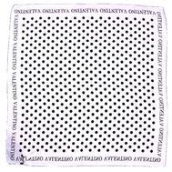 Платок шелковый Valentino белый в горох 5012