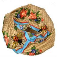 Шелковый женский платок Gucci с пчелкой  90х90, 6037