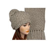 Комплект женский Tranini 5151 ART-1498E-1499S шапка+шарф